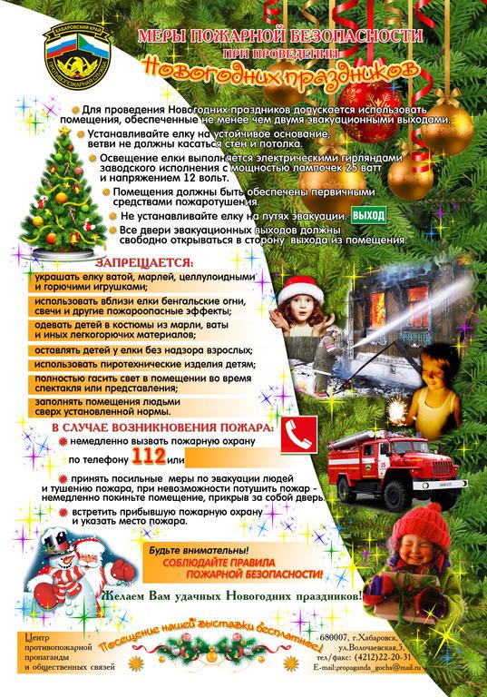 Приказ по пожарной безопасности при проведении нового года